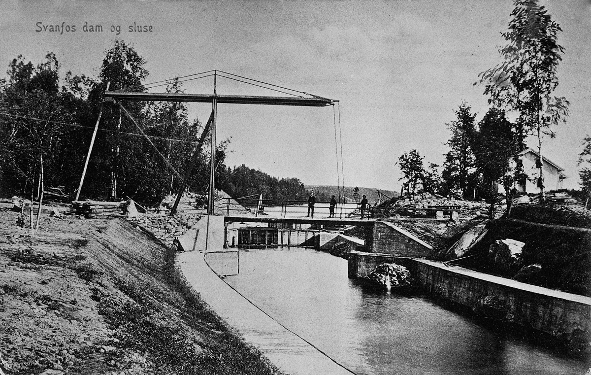 Svanfoss/Svanfos dam og sluse.