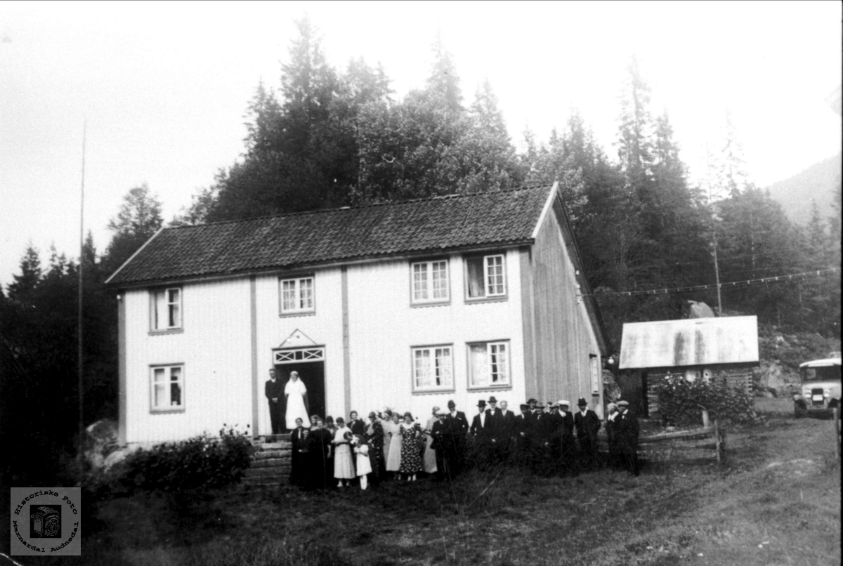 Brydlaup på gården Sundet i Bjelland