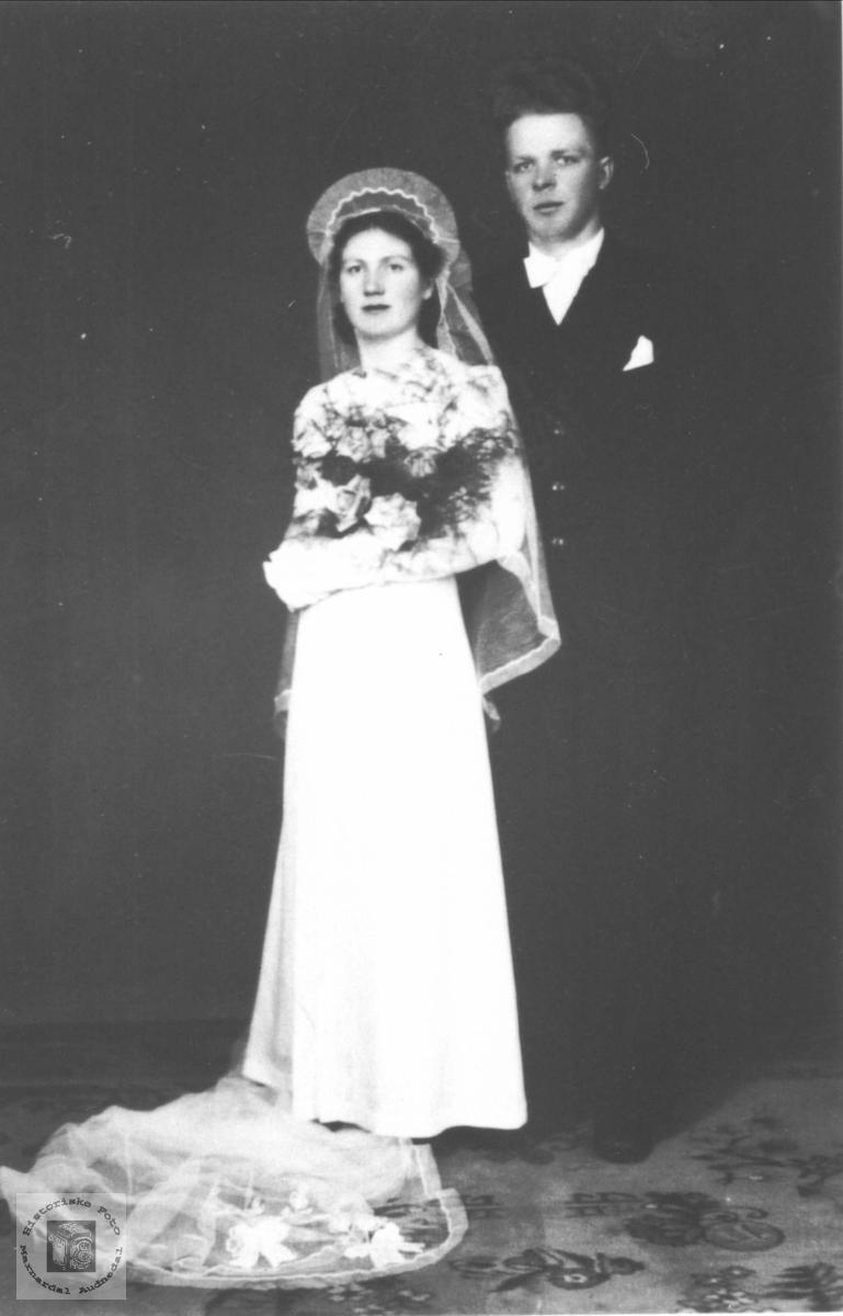 Bryllupsbilde Usland, Øyslebø.