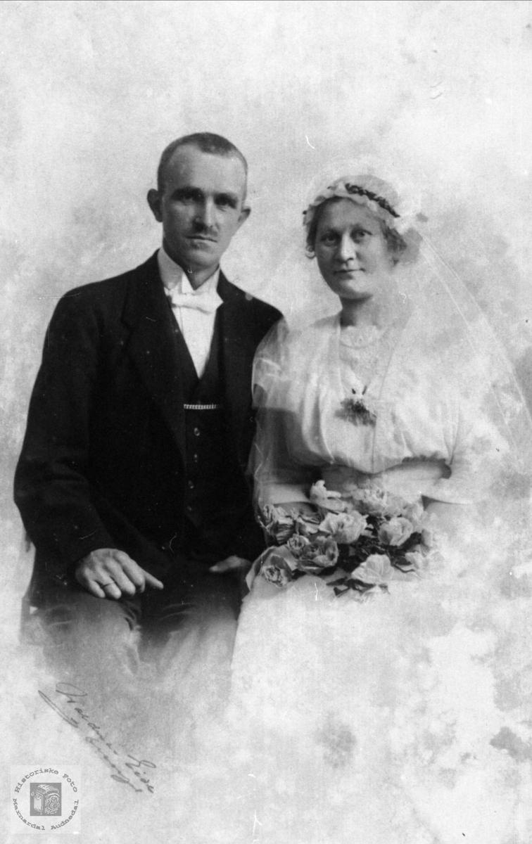 Brudeparet Erik og Johanna Stangeland