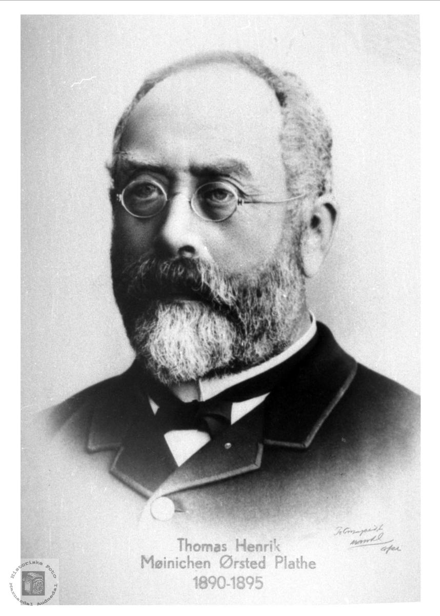 Prest Thomas Henrik M. Ø. Plathe, Holum prestegjeld, 1890-1897.