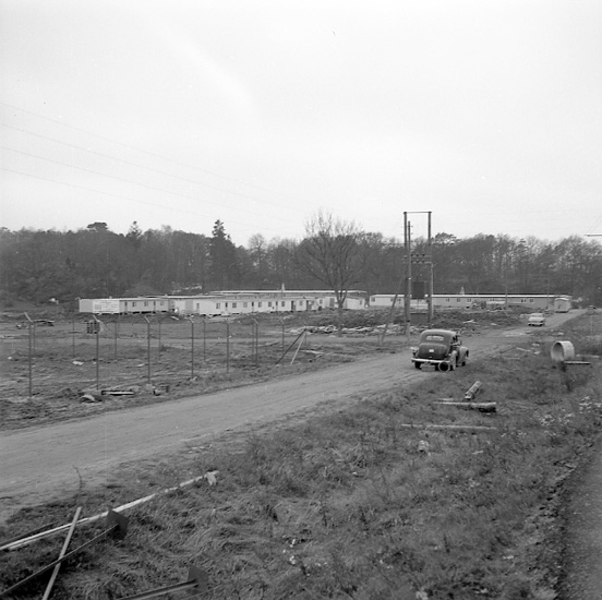 Bostadsbaracker mot bostadsbrist 1956