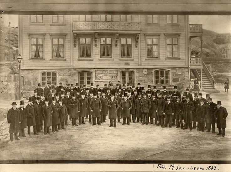 Uppvaktning av tullinspektör E.G Bundsen, Lysekil 1883
