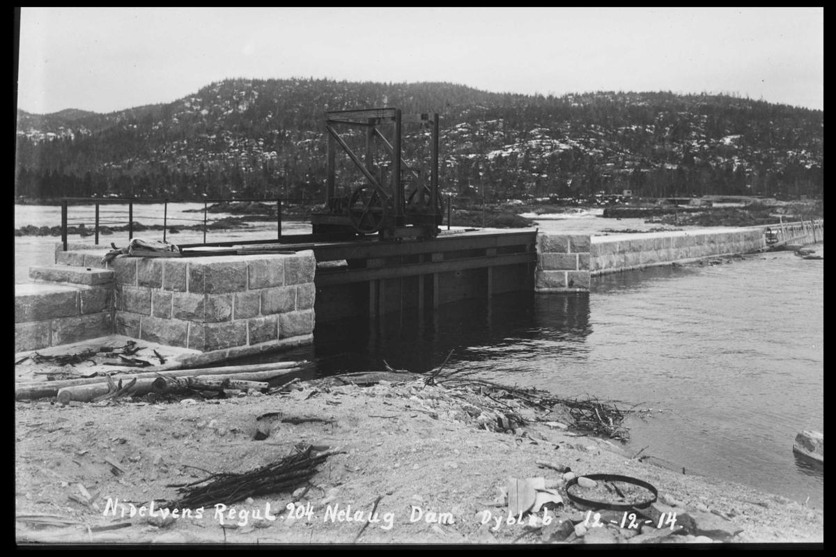 Arendal Fossekompani i begynnelsen av 1900-tallet CD merket 0474, Bilde: 88 Sted: Nelaug Beskrivelse: Damanlegget