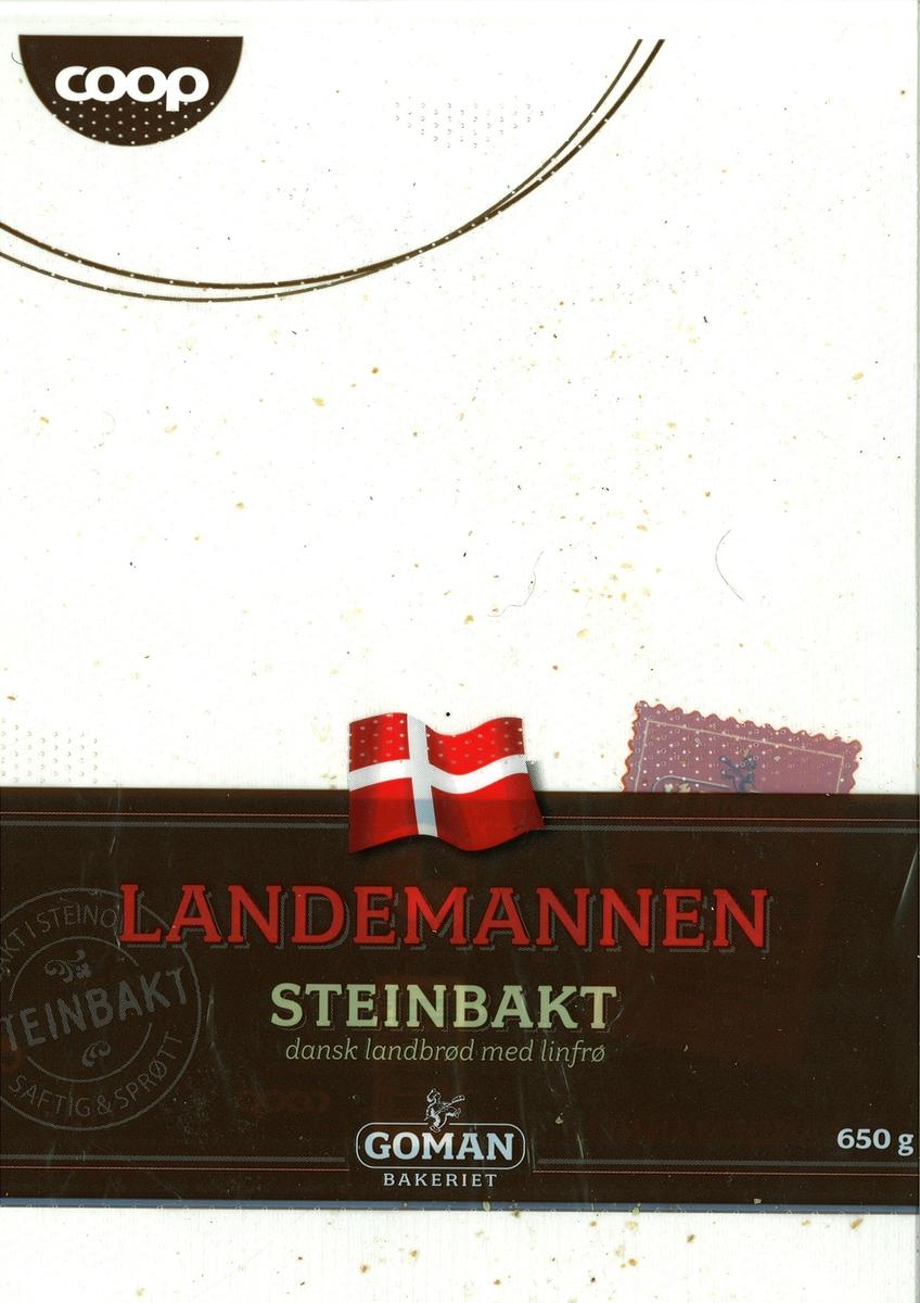 Motiv på posen er en dansk flagg. Den er plassert øvert på et brunt belte, som går tvers over posen