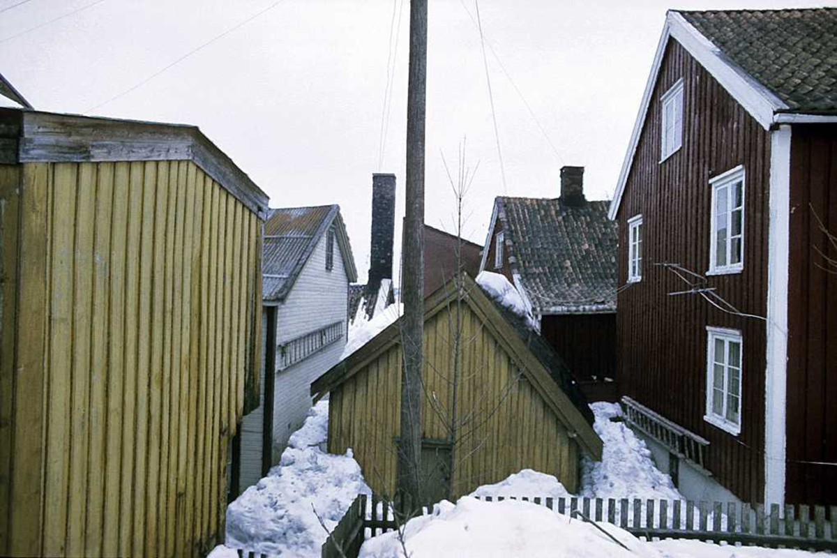 Bybebyggelse, mellom husene på Tyholmen.