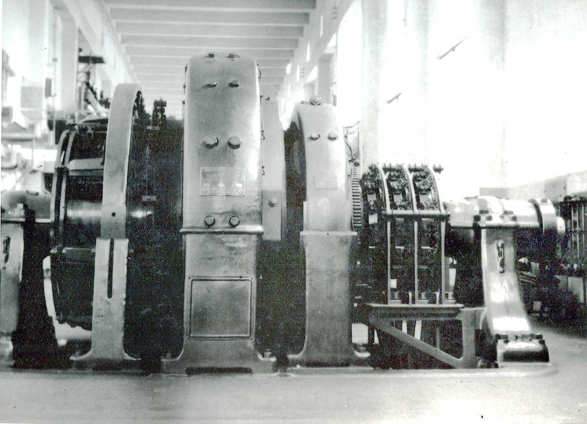 Nitriden. Maskin i Omformerstasjonen