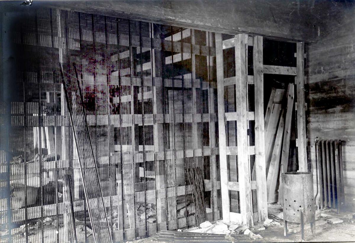 """""""xx/xx-1913"""" Nitriden. Forskalinger i bygning for materiallager, verksteder og kontorer."""