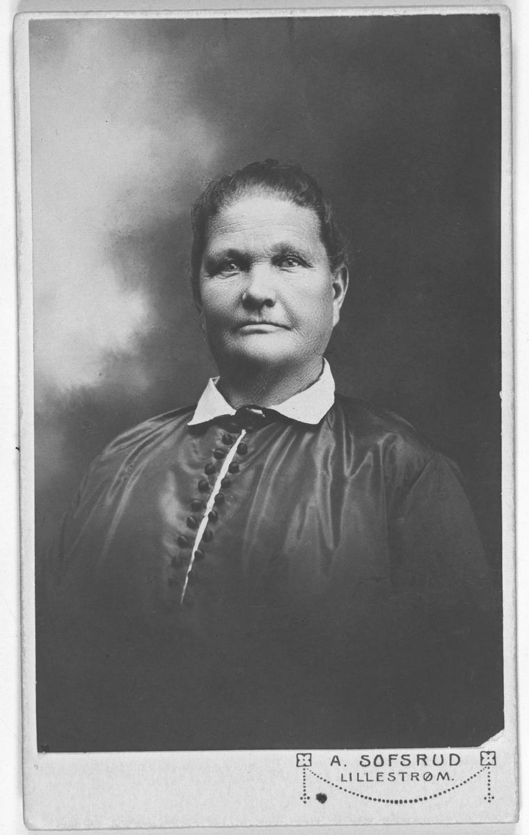 Portrettbilde av Sina Olsen, f. Sørli. F. 1860 D. 1948.