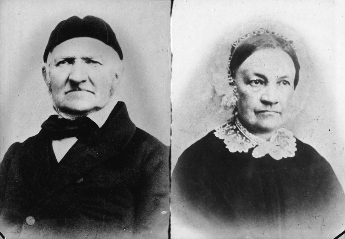 Portrett kvinne og mann.