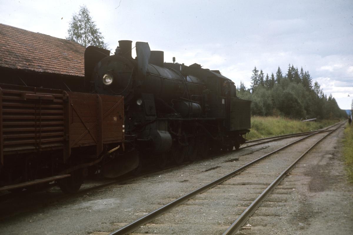 Godstog på Skreiabanen. Damplok type 30b nr. 347.